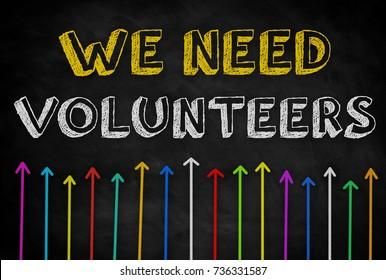 Wir brauchen Freiwillige - Hintergrundkonzept