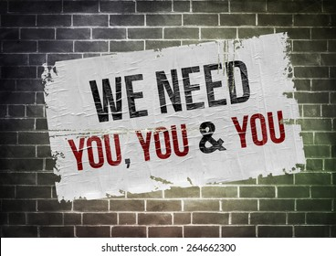 We need you - poster concept