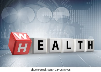 Wealth and health - 3d rendering