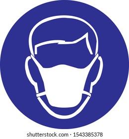 wear mask ppe sign and symbol