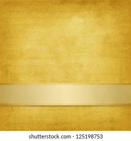 Weathered yellow background with ribbon