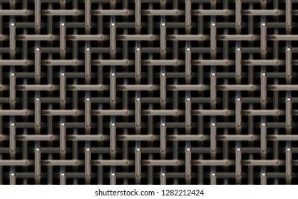 weaved metal grid background 3d illustration 45x28cm 300dpi