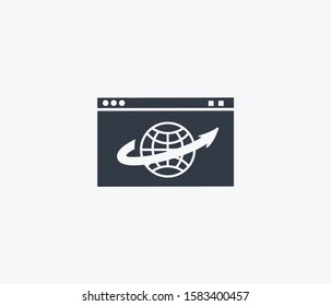 Web browser icon isolated on clean background. Web browser icon concept drawing icon in modern style. illustration for your web mobile logo app UI design.