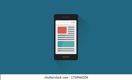 Web browser navigation or document pages on smartphone.
