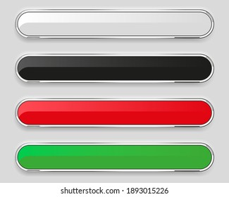 Web buttons set isolated on a gray background. 3d rendering