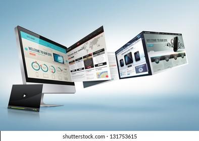 Web design concept
