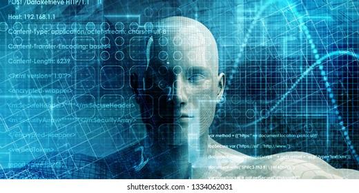 Web Development and Developer Resource Network as Concept 3D Render