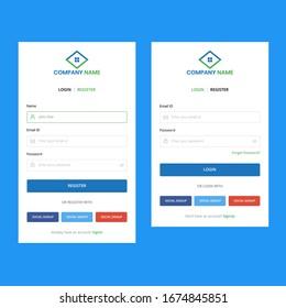 Web Login Signup Registration Template