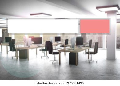 web search red search button modern office 3D Illustration