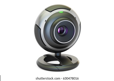 Webcam closeup, 3D rendering isolated on white background
