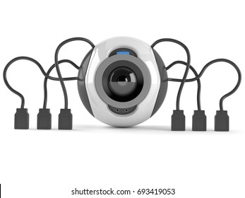 Webcam concept isolated on white background. 3d illustration
