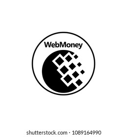 Webmoney logo Icon on white background