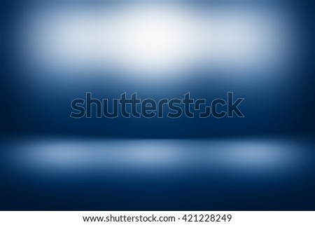 Website background blue sky abstract wallpaper design / Empty Dark blue with Black vignette Studio well