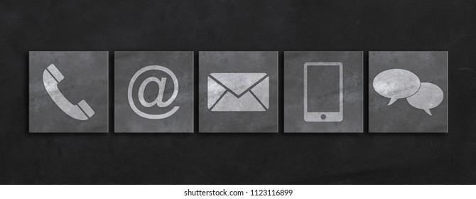 Website-Konzept und Internetkontakt
