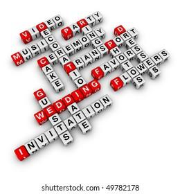 wedding checklist (cubes crossword series)