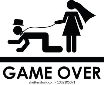 Wedding Couple - Game Over for bachelor