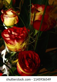 Wedding Flower made from Four Red Roses