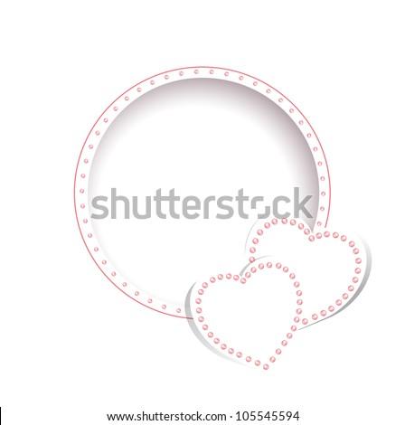 Wedding greetings invitation card template hearts stock illustration wedding greetings or invitation card template with hearts over white m4hsunfo