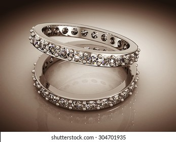 Wedding Ring on a white background.(high resolution 3D image)