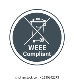 WEEE, Waste electrical and electronic equipment directive compliant symbol