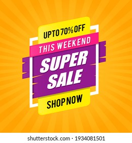 Weekend Super Sale Shopping Template