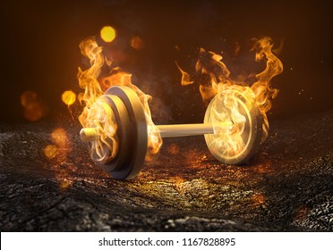 Weight is burning (3D Rendering)