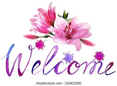 Welcome Flowers Images, Stock Photos & Vectors | Shutterstock
