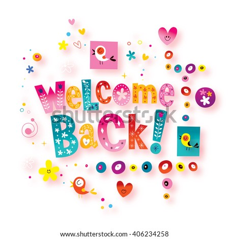 Welcome back greeting card stock illustration 406234258 shutterstock welcome back greeting card m4hsunfo