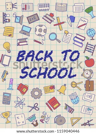 Royalty Free Stock Illustration of Welcome Back School