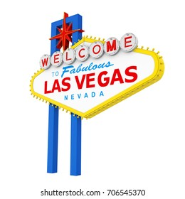 Welcome to Fabulous Las Vegas Sign Isolated. 3D rendering