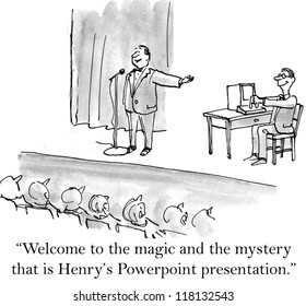 """Welcome to the magic and the mystery that is Henry's powerpoint presentation."""