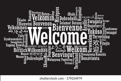 Welcome Tag Cloud illustration