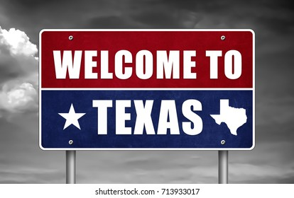 Welcome to Texas - road sign