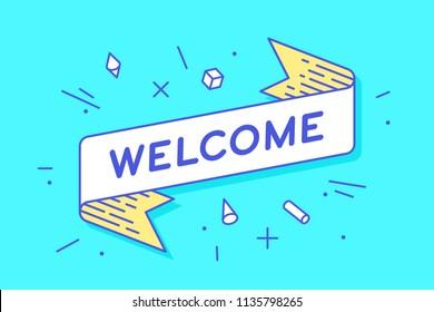 Welcome Banner Images, Stock Photos & Vectors | Shutterstock
