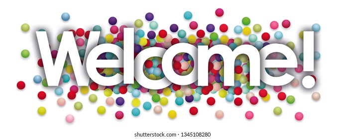Welcome word and Colors Balls