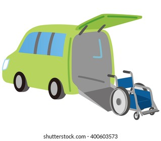 "welfare vehicle ""carrying wheelchair"""