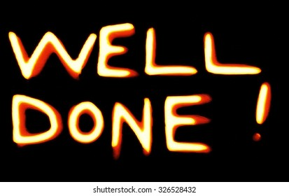 """""""Well done"""" text illustration icon"""