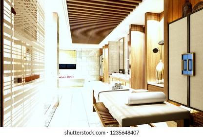 Massage room sensual