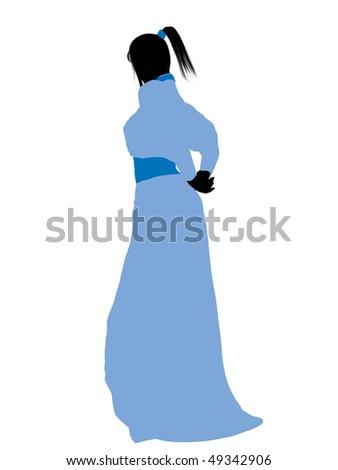 Wendy Peter Pan Illustration Silhouette On Stock Illustration