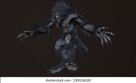 werewolf 3d render