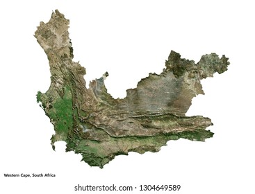 Western Cape, South Africa Map (3D illustration)