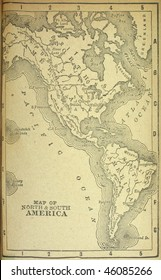 Western hemisphere, circa 1880. See the entire map collection: http://www.shutterstock.com/sets/22217-maps.html?rid=70583