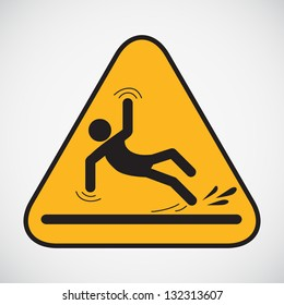 Wet floor caution sign. Vector version also available in my portfolio.