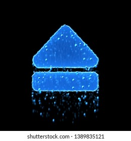 Wet symbol eject is blue. Water dripping