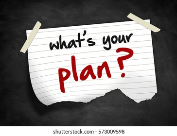 what is your plan - note concept