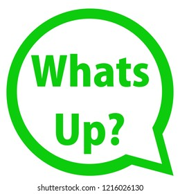 Whats Up in speech bubble for social media content.
