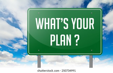 What's Your Plan with Local Search Marketing wording on Sky Background,