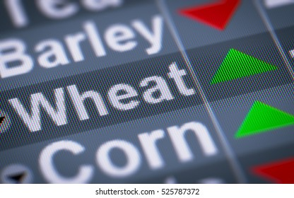 Wheat index of stock market. Up.