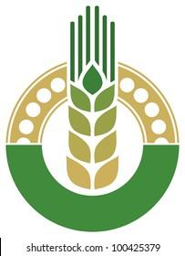 wheat sign (badge)