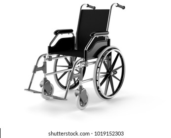 Wheel chair isolated on white background. 3d illustration